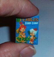Flintstones Pebbles & Bam Bam Paper Dolls Dollhouse Miniature Book 1:12 Scale