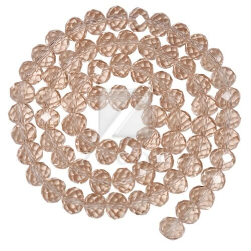 72pcs Crystal Rondelle Beads Loose Fit Necklace 10mm//12mm Jewelry Makings
