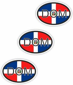 Country Code 3x Oval Flag Stickers