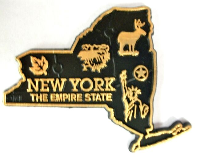 New York The Empire State Map Fridge Magnet