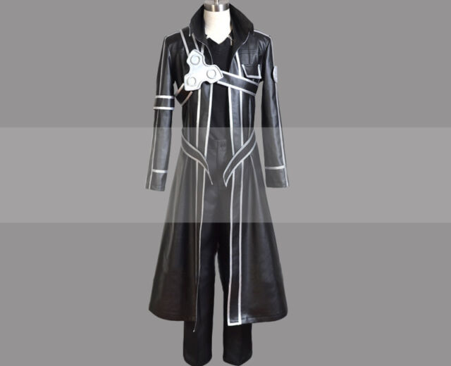 f459d94a9b8c0 Custom Made Sword Art Online Sao Kirito Cosplay Costume Trench Coat Outfit  Buy