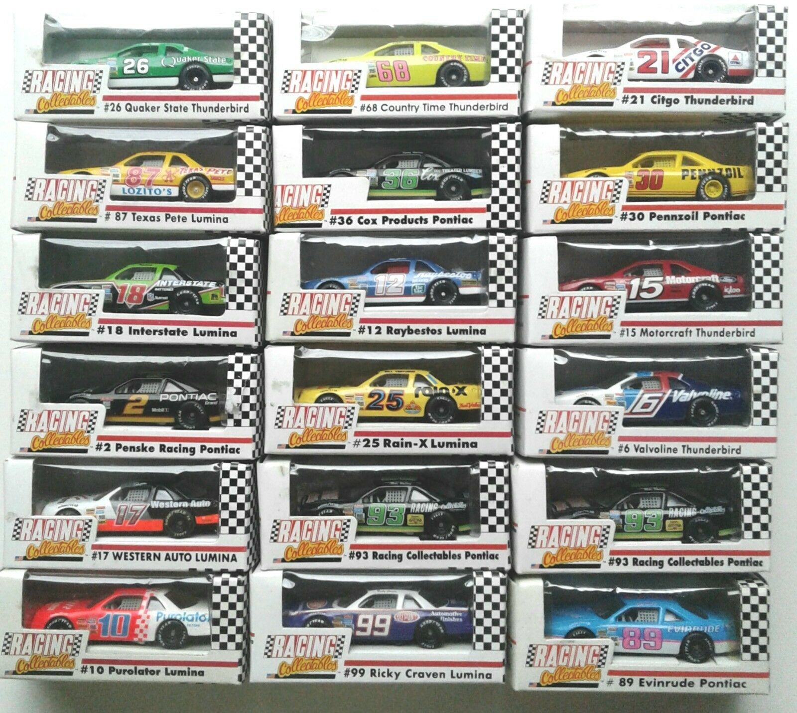 LOT OF 18 ACTION REVELL RACING COLLECTABLES of AMERICA  ASSORTED 1 64 RCCA 1 64