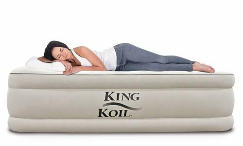 Best Twin Size Air Mattress Inflatable Air Bed Blow Up Beds Raised Built in Pump
