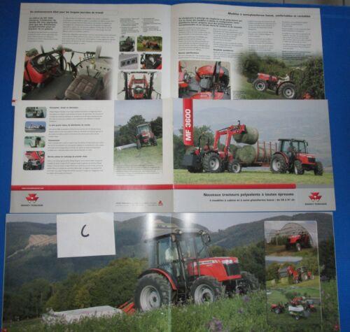 C / MASSEY FERGUSON tracteur  3600 : catalogue en français 2006