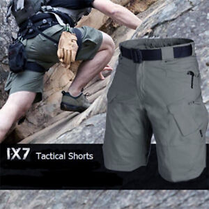 Men-039-s-Tactical-Military-Cargo-Shorts-Cotton-Outdoor-Hiking-Camping-Short-Pant