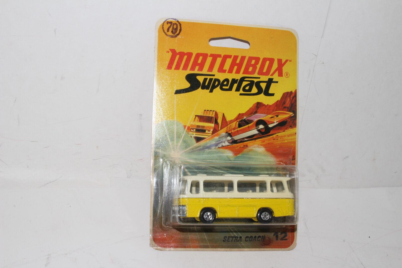 Matchbox Superfast Setra Autobús, Amarillo, Transparente Ventanas,