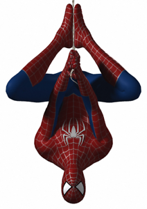 marvel spiderman upside down vinyl wall or window sticker various