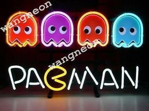 14 x10 pac man game roomreal neon sign beer bar light fast free