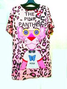 Pink panther perforated  shirt dress