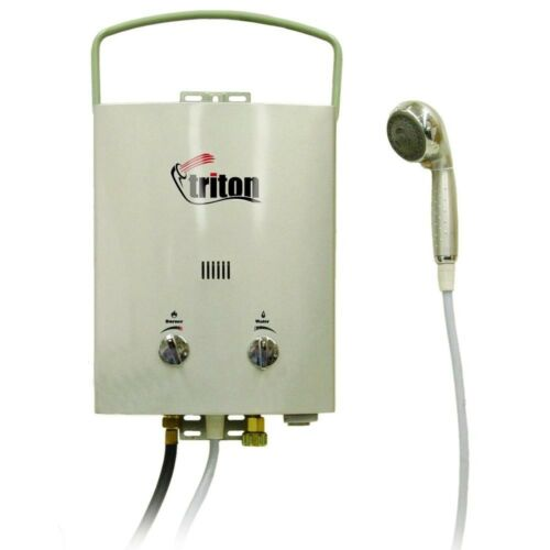 Portable Water Heater Hot Shower Camping Travel Outdoor Tankless Adjustable Flow
