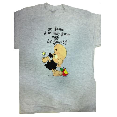 T-shirt umoristiche PECORA NERA 100/% cotone grigia SE DOMANI è UN ALTRO GIORNO..