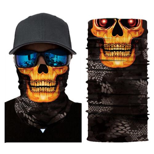 Ghost Biker Schädelhaube Gesichtsmaske Motorrad Ski Sturmhaube Stirnband Neu