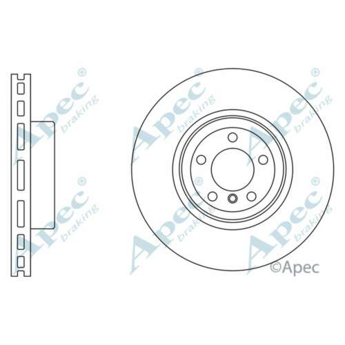 Fits BMW 4 Series Gran Coupe F36 435i Genuine Apec Front Vented Brake Discs Set