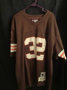 3c8e30ec Details about Vintage Jim Brown Cleveland Browns Mitchell and Ness  Throwback Jersey