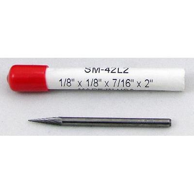 1//8 x 1//8 x 7//16 x 3 Pointed Cone Single Cut SM-42L3 Carbide Burr