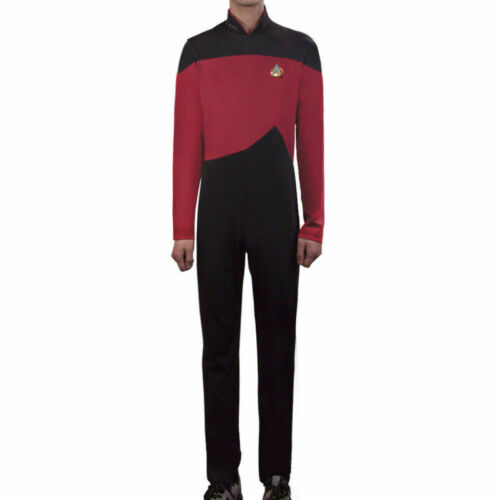 Star Trek The Next Generation Jumpsuit Uniform Red Cosplay TNG Costume Pin Set