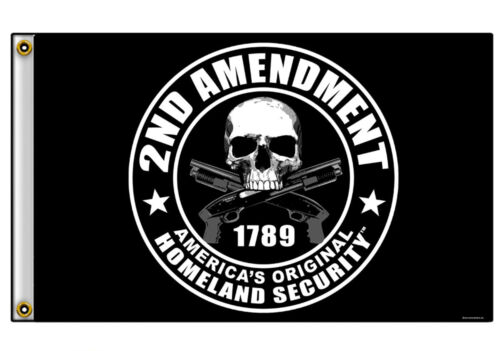 LARGE FLAG 2ND AMENDMENT RIGHT TO BEAR ARMS FREEDOM 3Ft X 5Ft.