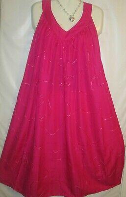 Womens Dress Mumu Sundress Cotton Blend Yellow Free Size Fits 2X 3X