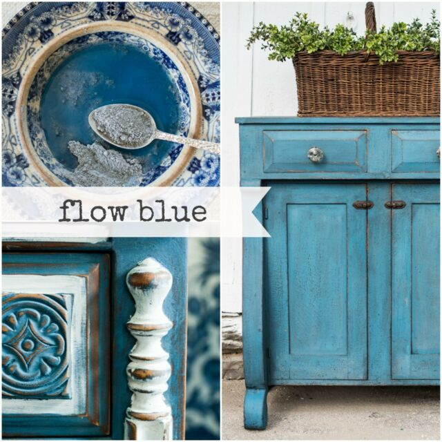 Miss Mustard Seed's Milk Paint - Flow Blue - Sample Size furniture painting DIY