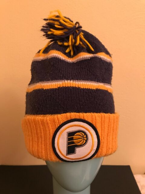 wholesale dealer 5f440 a123a Mitchell   Ness Indiana Pacers Knit Hat Cuffed Pom Winter Cap