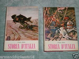 STORIA-D-039-ITALIA-2-VOLUMI-Giulio-Zeller-Editrice-Italiana-di-Cultura-1965