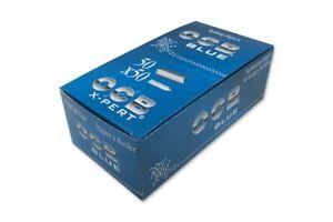 2500 papers 1 box OCB X-PERT Blue ultra thin rolling paper
