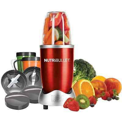 NutriBullet Nutribullet Smoothie Maker with 3 Drinks Containers Red New from AO