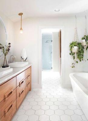 Puro Satin White Hexagon Porcelain Wall