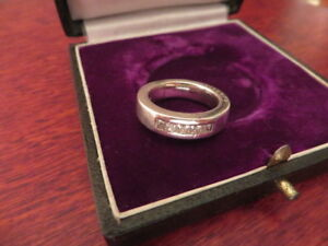 Schwerer-925-Silber-Ring-Massiv-Zirkonia-Signiert-Designer-Viventy-Vintage-Retro