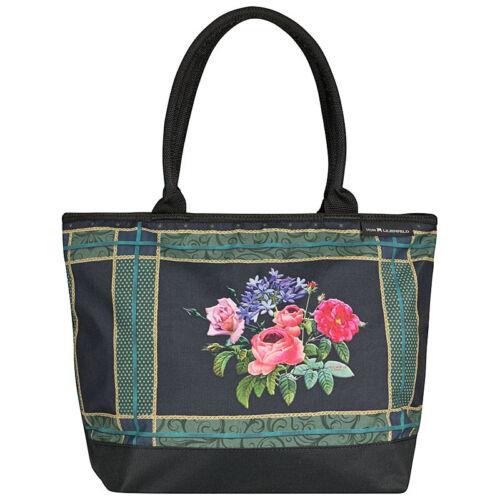 Schultertasche Umhängetasche Shopper Dame Groß Rosen Blume Nitsche Bonny Bouquet