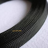 20mm BLACK Expandable Braided DENSE PET Sleeving / Cable Sleeve High Densely Diy