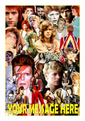 DAVID BOWIE  TOPPER A4  EDIBLE ICED// ICING  PERSONALISED