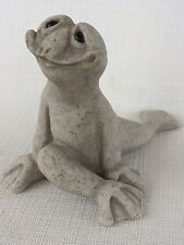 Quarry Critters  Fritzi Yoga Smiling Frog Figurine 2001 Second Nature Designs