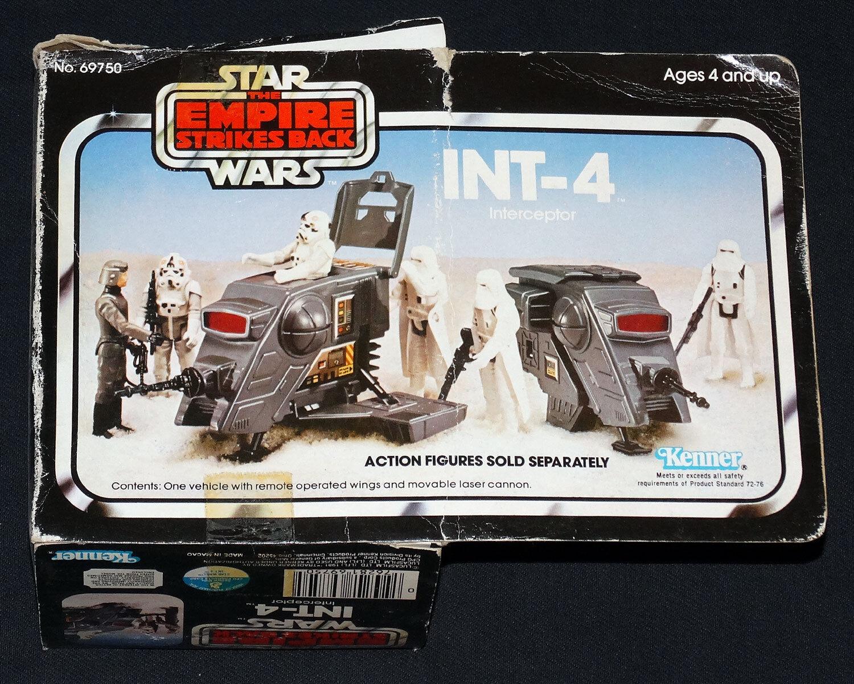 Star - wars - esb int-4 interceptor w   original box, beilagen und anweisungen.
