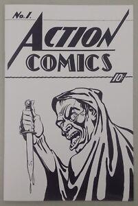 Superman-Action-Comics-1-recreation-The-Art-Collector-039-s-Ashcan-Edition