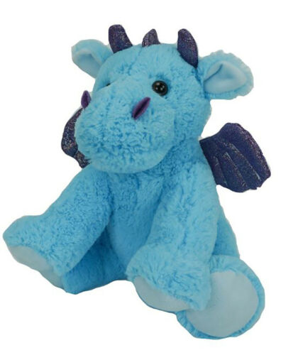 Make Your Own Stuffed Animal Cuddly Soft Blue Dragon 8 inch Kit No Sewing Requi