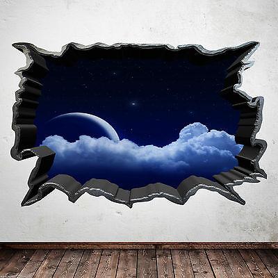 Full Colour Luna Notte Dream Stelle Wall Sticker Decalcomania Di Trasferimento Immagine Wsd370-