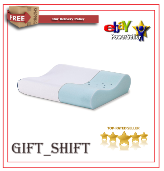 Serta Gel Memory Foam Contour Pillow Reduces Pain and Stiffness