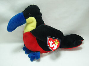 be3bad0f521 Image is loading Ty-Beanie-Baby-Kiwi-Toucan-4th-Generation-Hang-