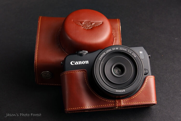 Handmade Genuine real Leather Full Camera Case Camera bag cover for CANON EOS-M