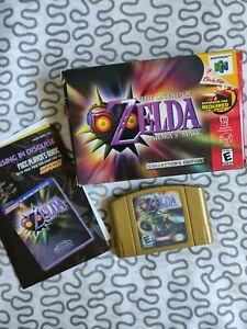 Legend-of-Zelda-Majora-039-s-Mask-Nintendo-64-Authentic-Collector-039-s-Edition