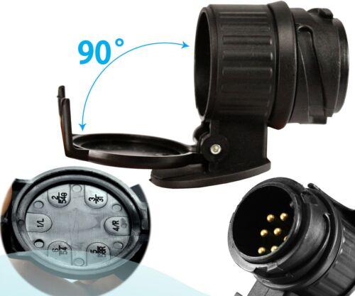 13 to 7 Pin Waterproof Towbar Towing Socket Trailer Truck Electric Adapter