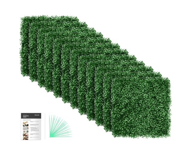 Flybold Artificial Boxwood Panels Topiary Hedge Plant Uv Protected Privacy Scree For Sale Online Ebay