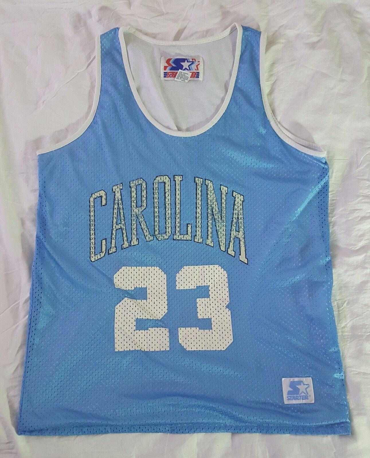Vintage RARE Starter JORDAN North Carolina Tar Heels Jersey Größe L (fits like M)