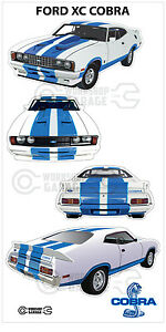 New-Collectable-Ford-XC-Cobra-Sticker-4-MEDIUM-STICKERS