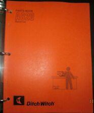 Ditch Witch A620 Backhoe Parts Book Catalog Manual Factory Original Oem 1987