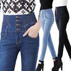 High Waist Skinny Denim Jeans Slim Long Pencil Pants  PLUS SIZE Fashion women's