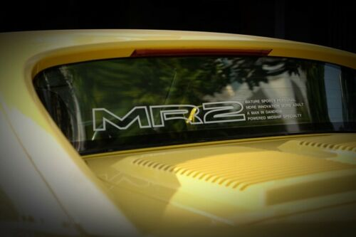 STICKER MR2 back window