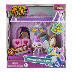 ANIMAL-JAM-PRINCESS-CASTLE-DEN-LIMITED-EDITION-FANCY-FOX-FIGURE-PLAY-SET-TOY