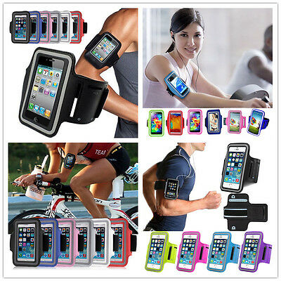 GYM Armband Running Jogging Sports Arm Strap Case Cover Holder For CellPhone AU